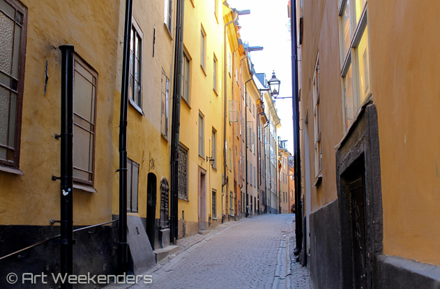 The cobblestone streets of Gamla Stan, Stockholm.