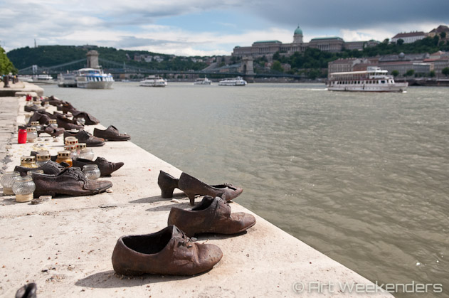 Shoes Along Danube, Budapest. WWII Monument. Budapest-Hungary.