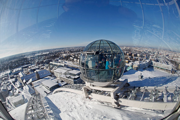 Skyview Stockholm in winter, photo by Soren Andersson/ mediabank.visitstockholm.com