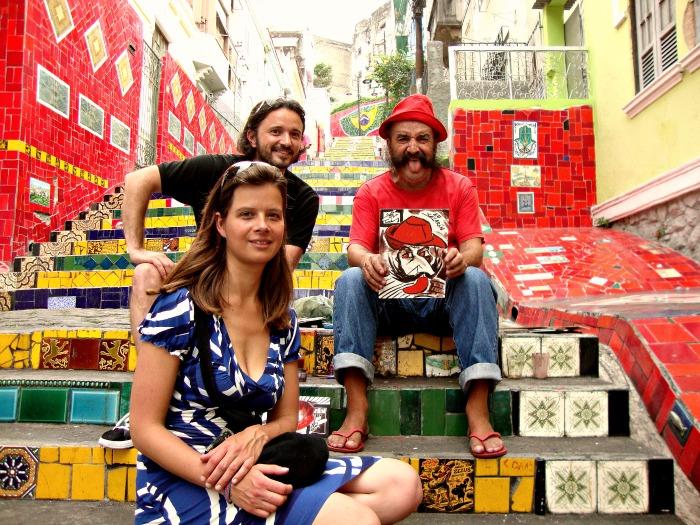 Selaron with his stairs Rio de  Janeiro