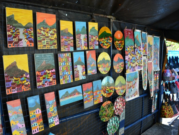 Art from the Rocinha Favela in Rio de Janeiro
