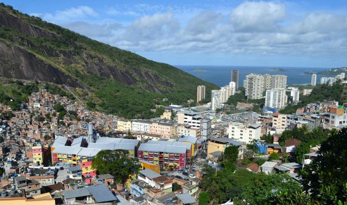 View over the Rocinha favela in Rio de Janeiro