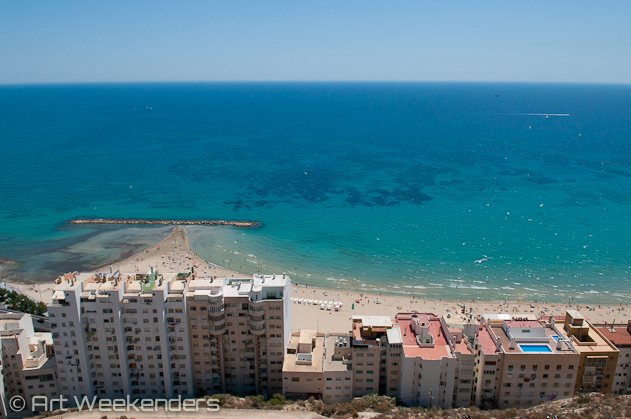 Spain-Alicante-view-from-Santa-Barbara-beach