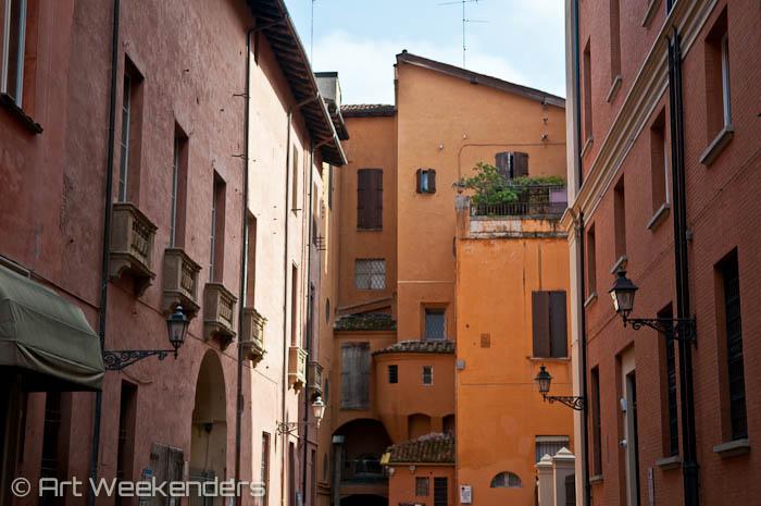 Bologna's back alleys.