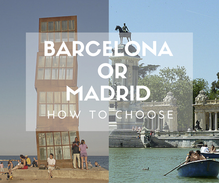 which city to visit barcelona or madrid how to choose