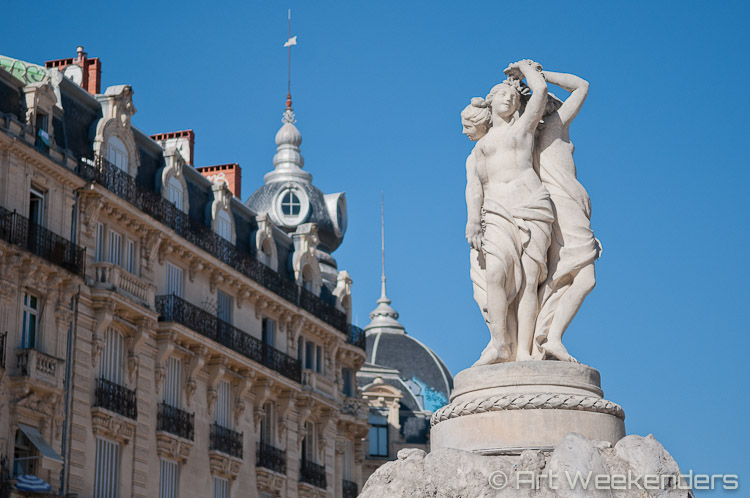 France_Montpellier_Place_de_la_Comedie_Three_Graces