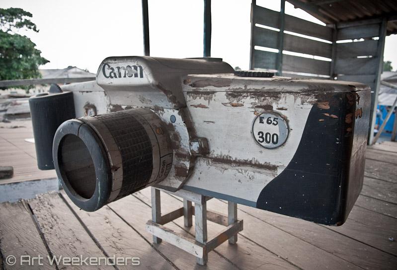 Ghana fantasy coffin art camera
