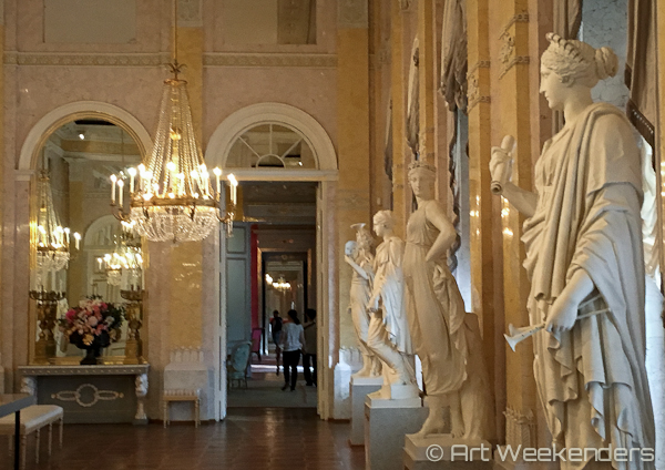 The inside of the Albertina museum in Vienna Austria