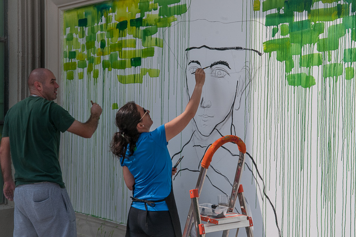 Hua Quan Village China Miracle project muralists at work 7