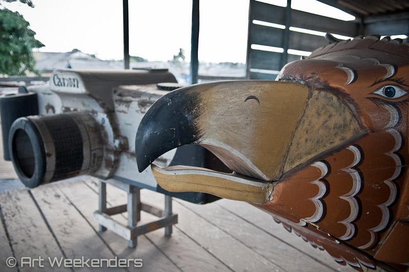 Ghana coffin art bird